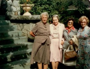 Ruth with National NS Executive in 1980 L-R Sec.Treas Eileen Shaw, Councillors Ruth McIlraith,Peggy Keen, Isabel Gell PH-1311