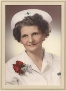 Florence Wilson on her graduation as Licensed Practical Nurse