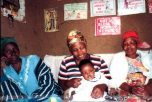Mother and Baby with relatives at the Missionary Clinic