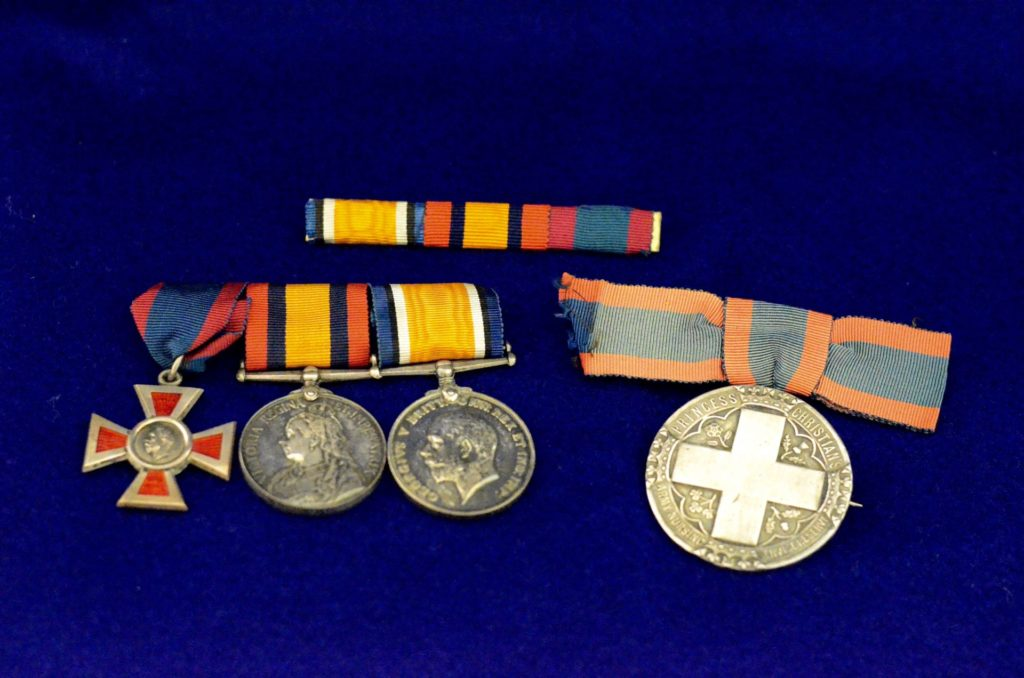 1883 Royal Red Cross, Boer War and World War One medals